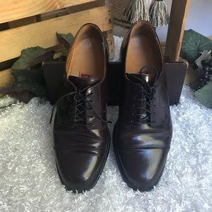 Cole Haan cap toe brown men's dress shoes
